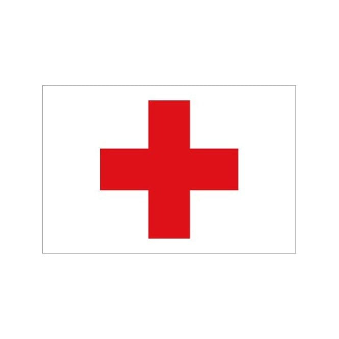 Red Cross 5x3 Feet Polyester Flag with Eyelets - 150cm x 90cm