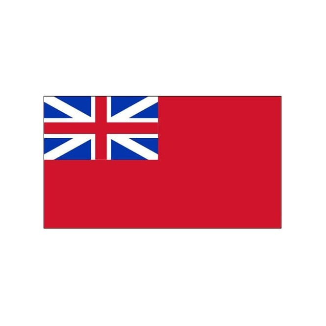 Red Ensign British Navy 8x5 Feet Polyester Flag with Eyelets - 250cm x 150cm