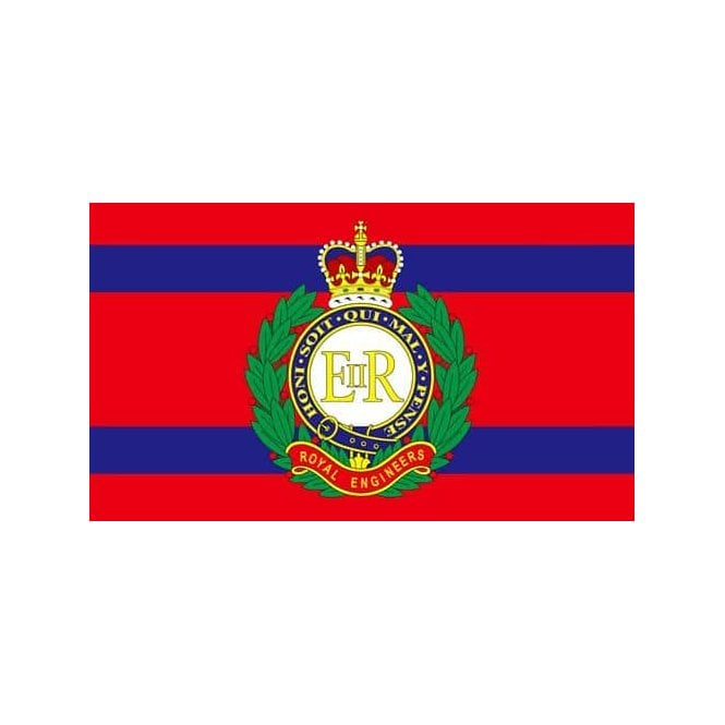 Royal Engineer Corps 5x3 Feet Polyester Flag with Eyelets - 150cm x 90cm