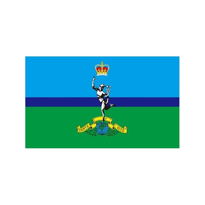 Royal Signals Corps 5x3 Feet Polyester Flag with Eyelets - 150cm x 90cm