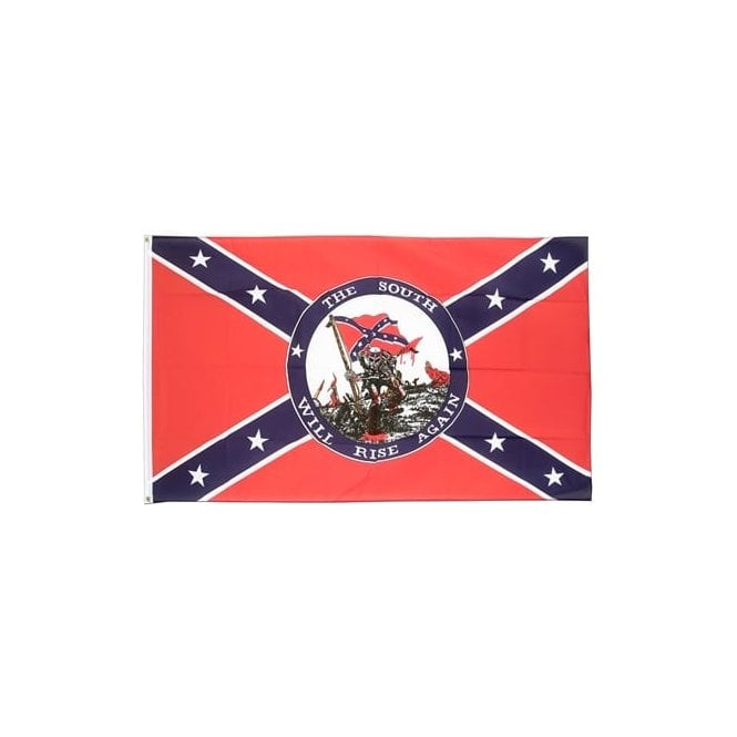 South Will Rise Again 5x3 Feet Polyester Flag with Eyelets - 150cm x 90cm