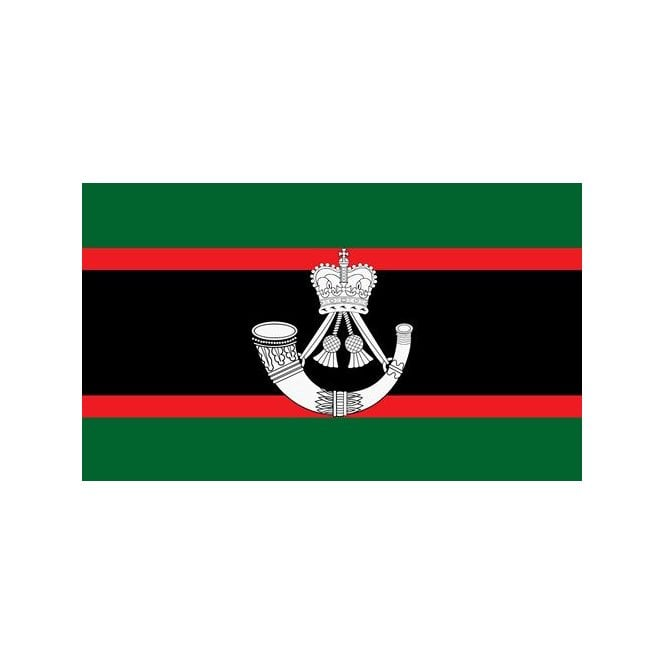 The Rifles Regiment 5x3 Feet Polyester Flag with Eyelets - 150cm x 90cm