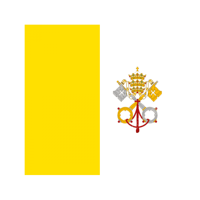 Vatican City 5x3 Feet Polyester Flag with Eyelets - 150cm x 90cm