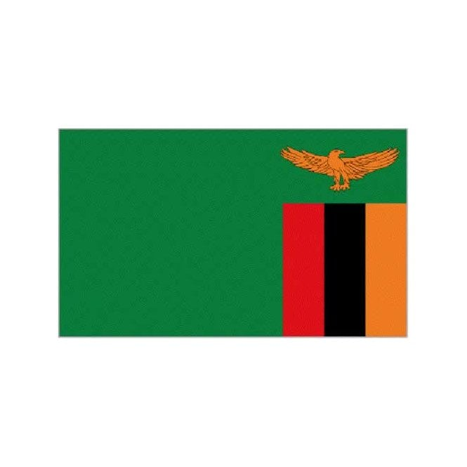 Zambia 3x2 Feet Polyester Flag with Eyelets - 90cm x 60cm