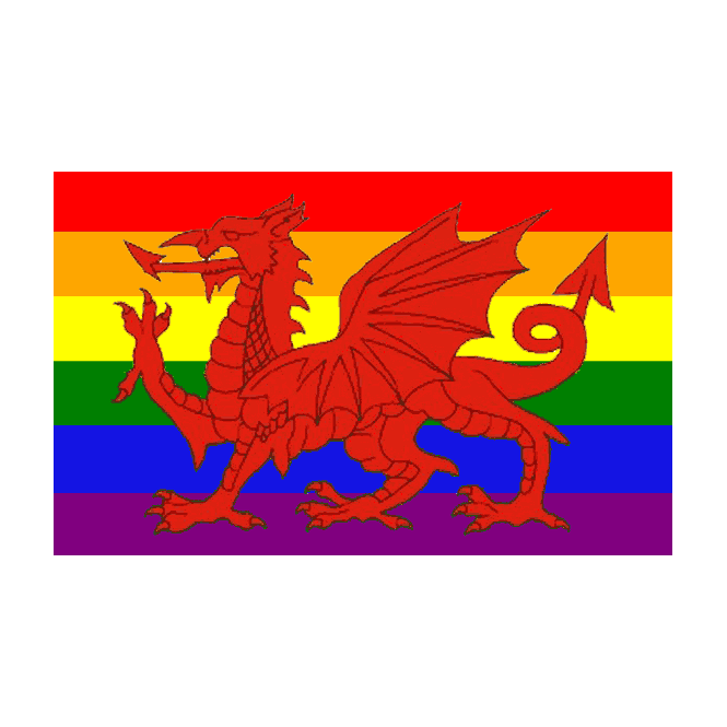 Rainbow Wales 5x3 Feet Polyester Flag with Eyelets - 150cm x 90cm