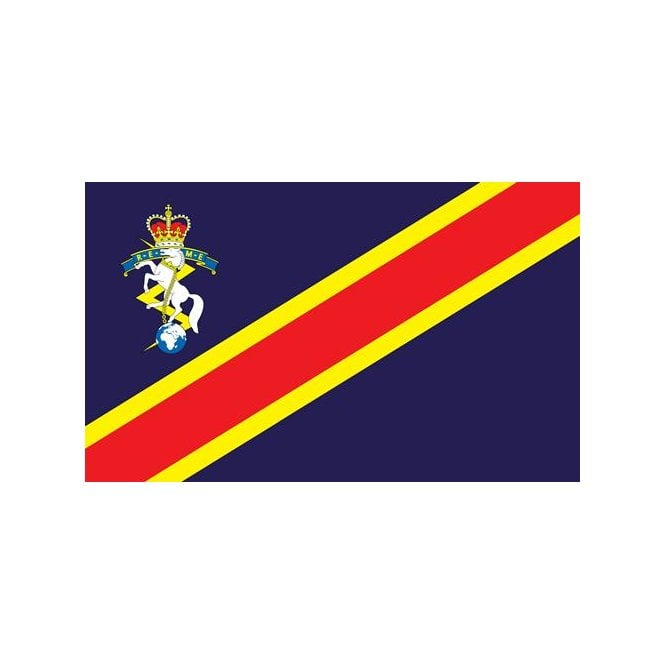 Royal Electrical and Mechanical Corps 5x3 Feet Polyester Flag with Eyelets - 150cm x 90cm