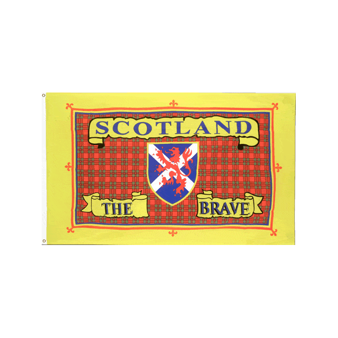 Scotland The Brave 3x2 Feet Polyester Flag with Eyelets - 90cm x 60cm