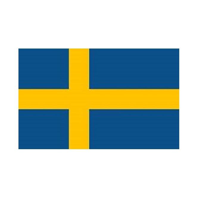 Sweden 5x3 Feet Polyester Flag with Eyelets - 150cm x 90cm