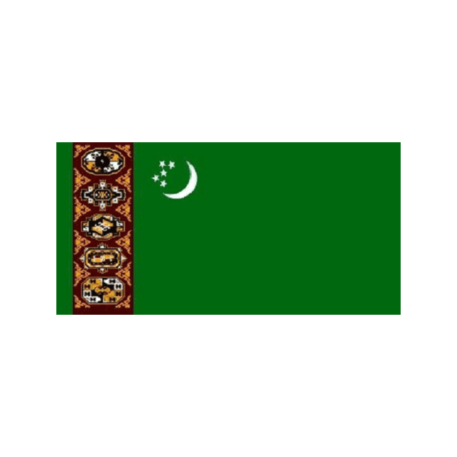 Turkmenistan 5x3 Feet Polyester Flag with Eyelets - 150cm x 90cm