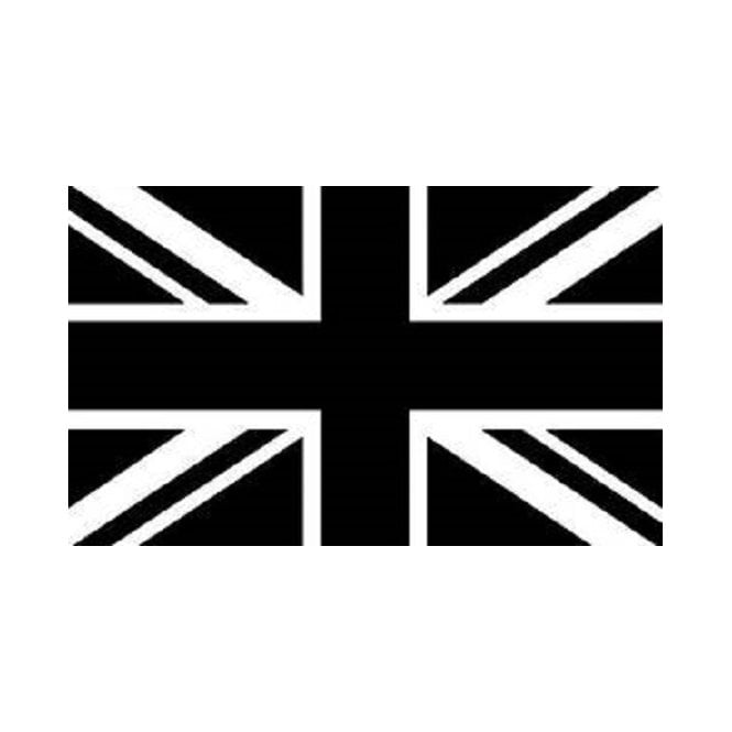 Union Jack Black 5x3 Feet Polyester Flag with Eyelets - 150cm x 90cm