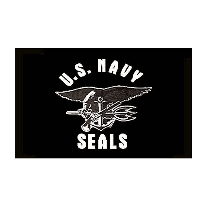 US Navy Seals 5x3 Feet Polyester Flag with Eyelets - 150cm x 90cm