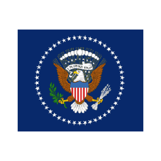US President 5x3 Feet Polyester Flag with Eyelets - 150cm x 90cm