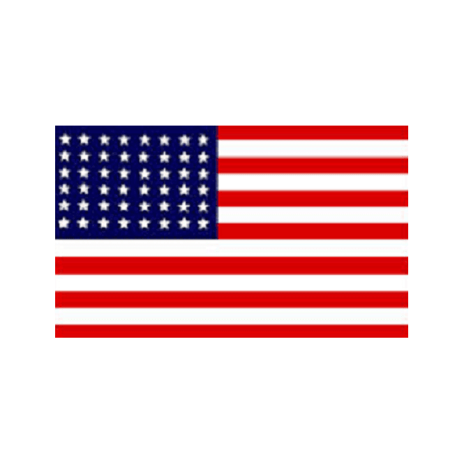 USA 48 Stars 1912-1959 5x3 Feet Polyester Flag with Eyelets - 150cm x 90cm