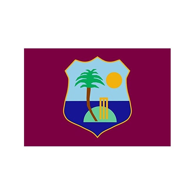 West Indies 6 x 4 Inch Polyester Hand Flag - 15cm x 10cm