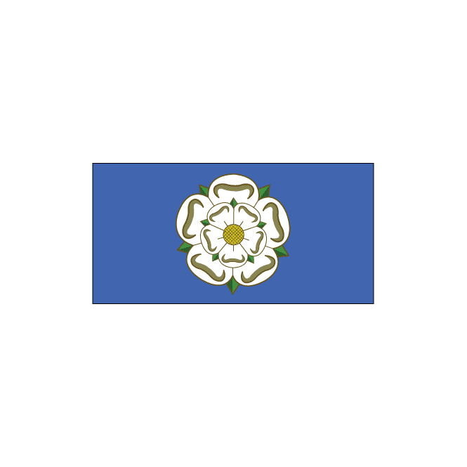 Yorkshire 3x2 Feet Polyester Flag with Eyelets - 90cm x 60cm