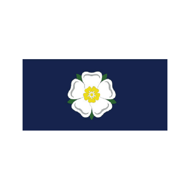 Yorkshire Rose (Old) 5x3 Feet Polyester Flag with Eyelets - 150cm x 90cm